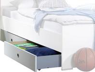 BETTSCHUBKASTEN  in  Weiß  - Weiß, LIFESTYLE, Holzwerkstoff/Kunststoff (100/16/60cm) - Carryhome