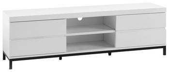 LOWBOARD 165/50/40 cm  - Schwarz/Weiß, Design, Holzwerkstoff/Metall (165/50/40cm) - Xora