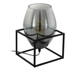 BORDSLAMPA - svart, Design, metall/glas (20/20/30,5cm)