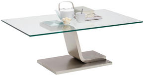 SOFFBORD - nickelfärgad, Design, metall/glas (115/65/42cm) - Novel