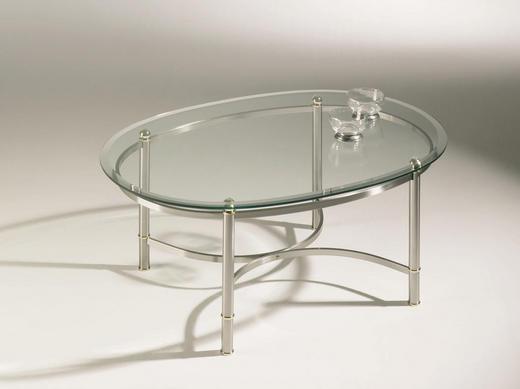 COUCHTISCH Edelstahlfarben - Edelstahlfarben, Design, Glas/Metall (100/69/45cm) - NOVEL