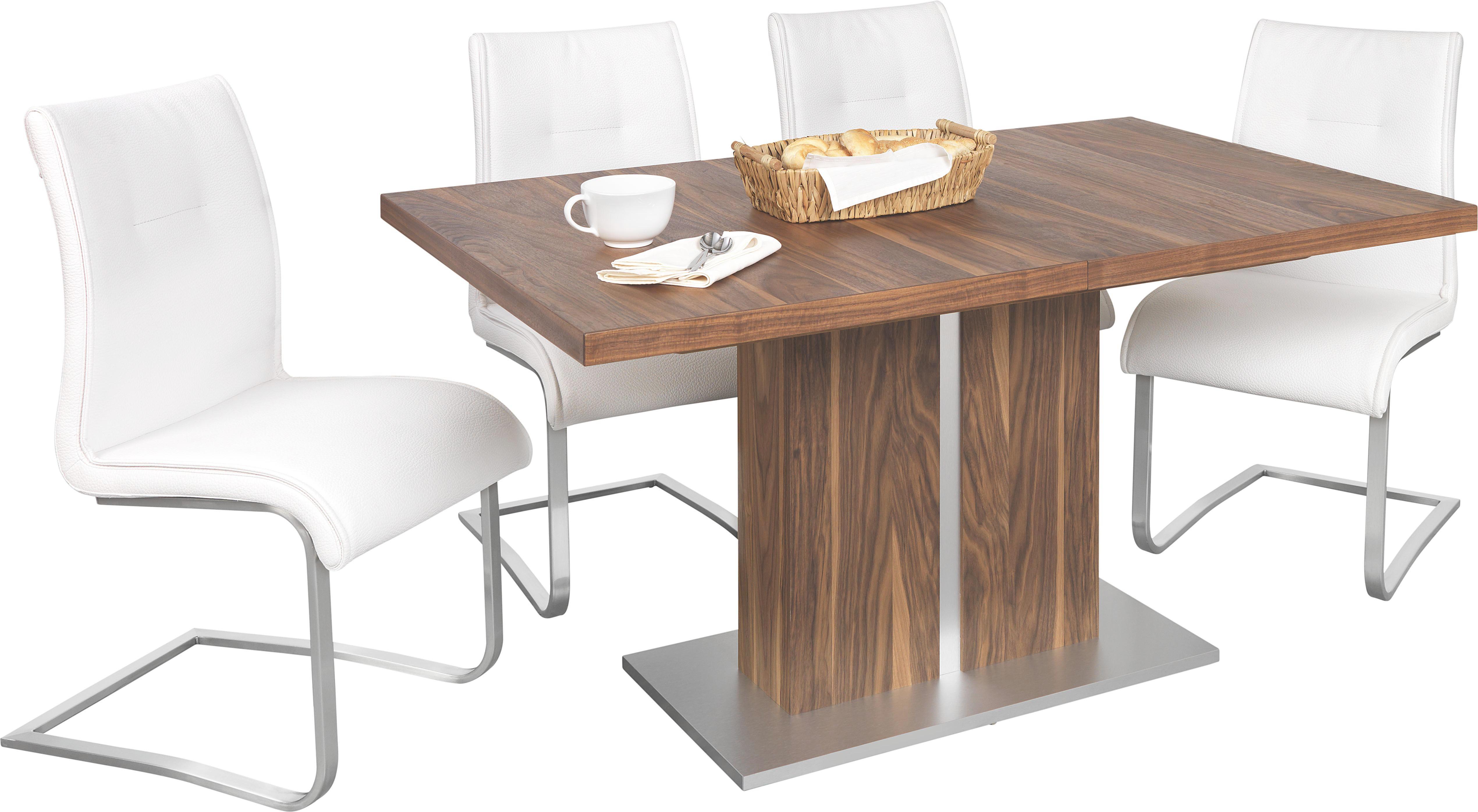 ESSTISCH in furniert Nussbaumfarben - Nussbaumfarben, Design, Holz (140(180)/90cm) - NOVEL