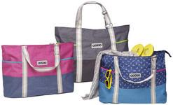 STRANDTASCHE - Blau/Pink, Basics, Textil (52/40/21cm) - BOXXX