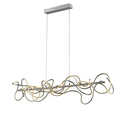 LED-HÄNGELEUCHTE - Nickelfarben, MODERN, Metall (110/150/25cm)