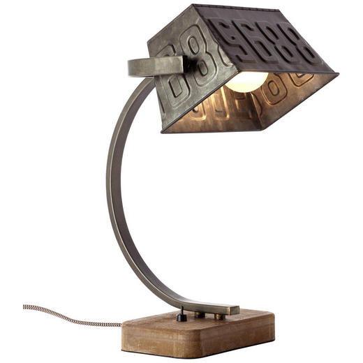 TISCHLEUCHTE - Trend, Holz/Metall (38/25/24cm)