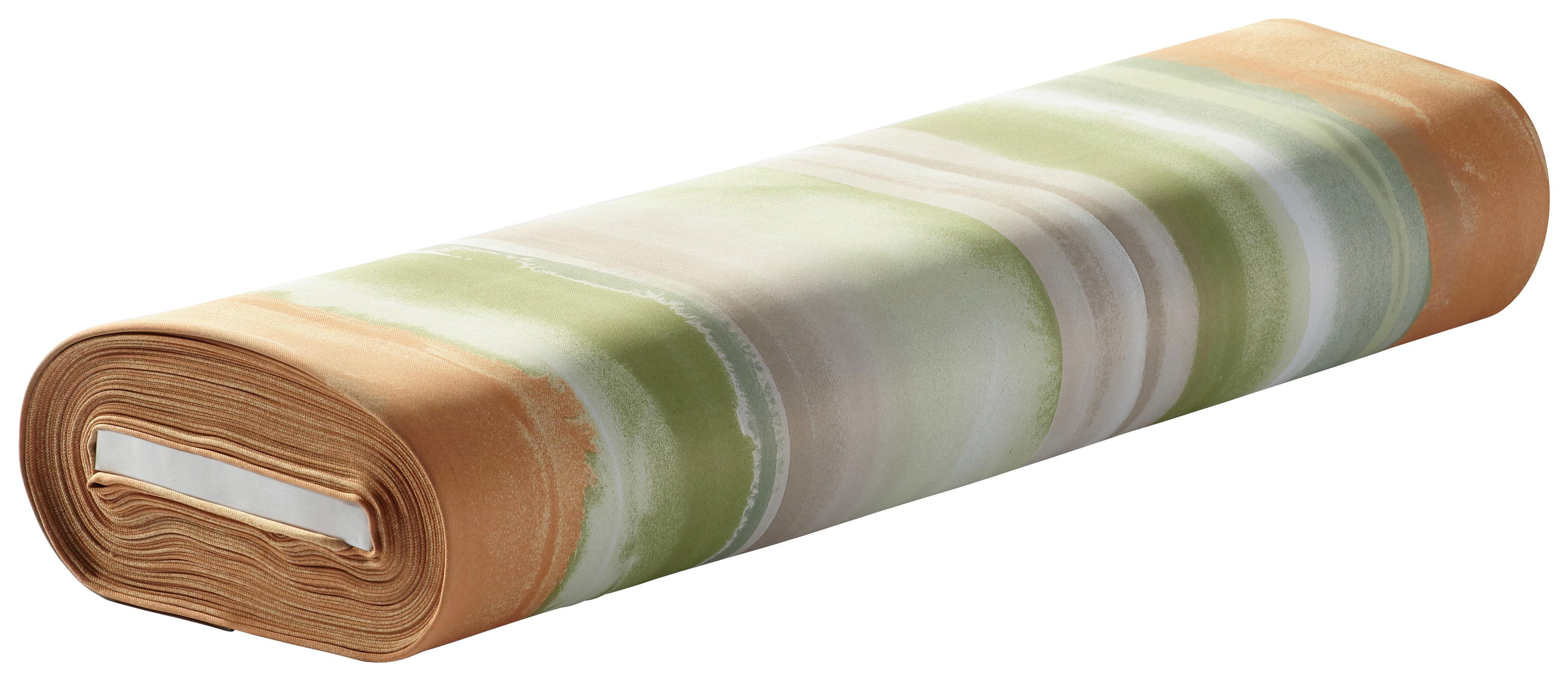 DEKOSTOFF per lfm black-out (lichtundurchlässig) - Braun/Orange, KONVENTIONELL, Textil (150cm) - ESPOSA