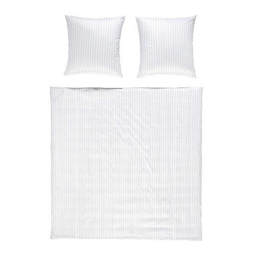 BETTWÄSCHE Makosatin Silberfarben 200/200 cm - Silberfarben, Basics, Textil (200/200cm) - Janine