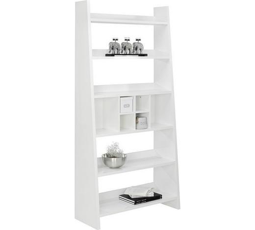 REGÁL, bílá - bílá, Design, kompozitní dřevo (100/205/38cm)