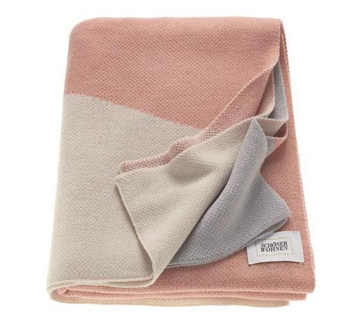 WOHNDECKE 140/200 cm Grau, Rosa, Beige - Beige/Rosa, Textil (140/200cm) - Schöner Wohnen