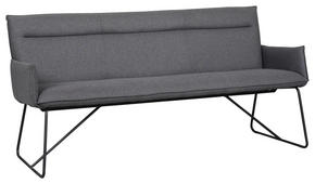 3-SITS BÄNK - mörkgrå/svart, Modern, metall/textil (185/88/66cm) - Rowico