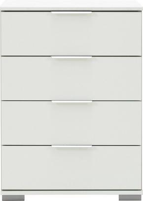 SÄNGBORD - vit/alufärgad, Design, metall/träbaserade material (52/74/38cm) - Carryhome