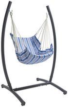 HÄNGESESSEL - Blau/Anthrazit, Design, Textil/Metall (140/185/108cm) - Ambia Garden