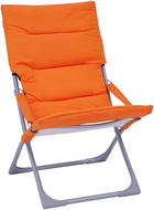VRTNA SKLOPIVA STOLICA - narančasta/boje srebra, Design, metal/tekstil (63/88/83cm) - AMBIA GARDEN
