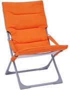 ZLOŽLJIV VRTNI STOL  jeklo oranžna, srebrna  - oranžna/srebrna, Design, kovina/tekstil (63/88/83cm) - Ambia Garden