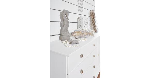 KLEIDERSCHRANK in teilmassiv Kiefer Weiß - Weiß, LIFESTYLE, Holz/Holzwerkstoff (192,5/190/60cm) - Hom`in