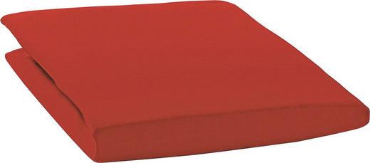 SPANNBETTTUCH Zwirn-Jersey Rot bügelfrei, für Wasserbetten geeignet - Rot, Basics, Textil (200/200cm) - ESTELLA