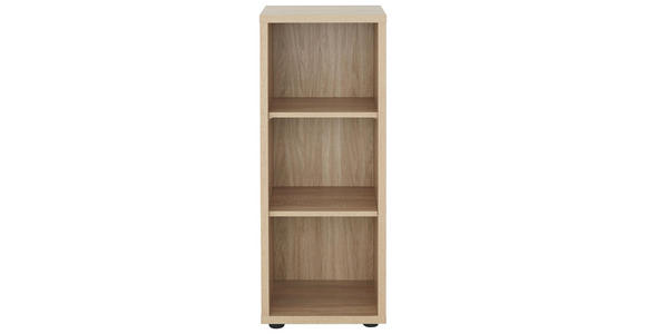 AKTENREGAL - Schwarz/Sonoma Eiche, KONVENTIONELL, Holzwerkstoff/Kunststoff (43,9/110,5/40cm) - Voleo