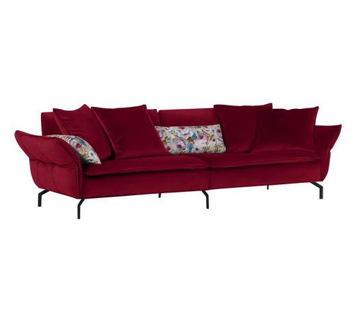 MEGASOFA in Textil Rot - Rot/Schwarz, Trend, Textil (300/88-45/109cm) - Landscape