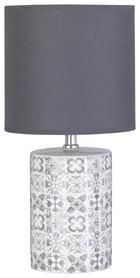 TISCHLEUCHTE - Weiß/Grau, Design, Keramik/Textil (38cm)