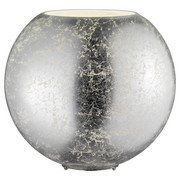 LAMPA STOLNÍ - barvy stříbra, Lifestyle, kov/sklo (28/27,5cm)