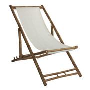 LEŽALJKA VRTNA - bijela/svijetlo smeđa, Basics, drvo/tekstil (112/60/80cm)