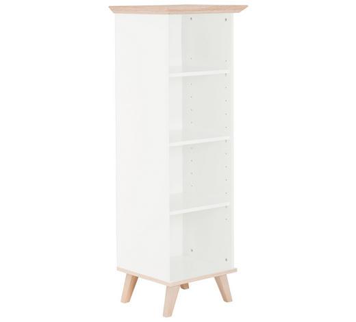 REGAL Weiß, Eichefarben  - Eichefarben/Weiß, Design, Holzwerkstoff (50/144/45cm) - Carryhome