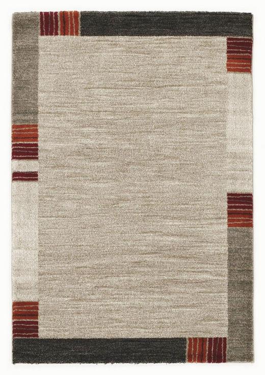 WEBTEPPICH   Beige, Dunkelbraun - Beige/Dunkelbraun, KONVENTIONELL, Textil (80/150cm) - Novel