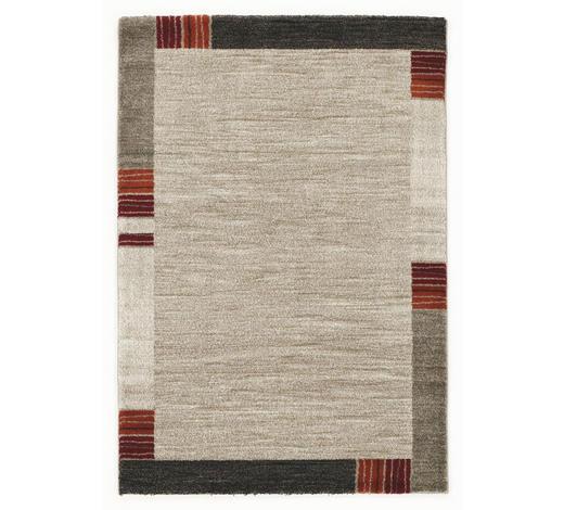 WEBTEPPICH - Dunkelbraun/Beige, KONVENTIONELL, Textil (200/250cm) - Novel