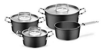 SADA HRNCŮ NA VAŘENÍ - černá/barvy stříbra, Basics, kov - Fissler