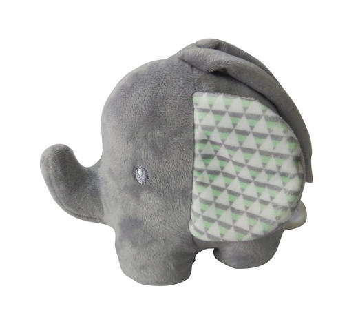 SPIELUHR - Hellgrau/Hellgrün, Basics, Kunststoff/Textil (15cm) - Patinio