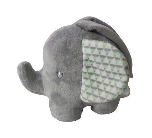 SPIELUHR - Hellgrau/Weiß, Basics, Kunststoff/Textil (15cm) - Patinio