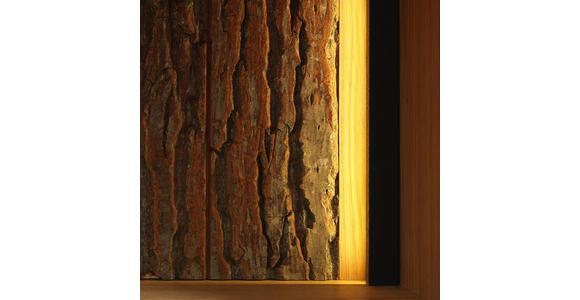 WOHNWAND in Eichefarben - Eichefarben/Alufarben, KONVENTIONELL, Glas/Holz (320/190/50cm) - Cantus