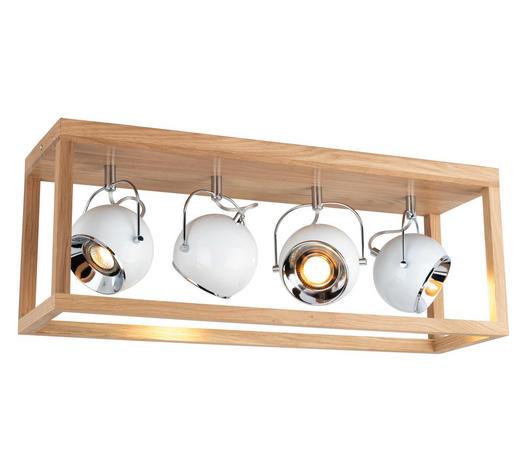 DECKENLEUCHTE - Braun, LIFESTYLE, Holz/Metall (68/26/20cm)