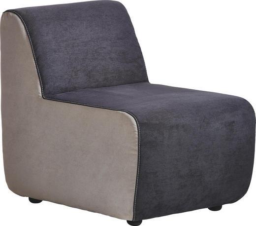 SESSEL Anthrazit, Hellgrau - Anthrazit/Hellgrau, Design, Kunststoff/Textil (61/72/79cm) - Venda