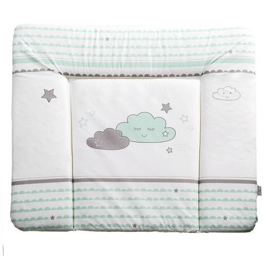 WICKELAUFLAGE Happy Cloud - Weiß/Grau, Textil (85/75cm) - Roba