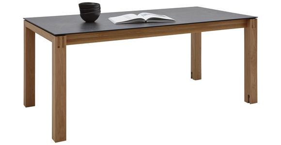 ESSTISCH in Holz, Kunststoff 160(260)/100/75 cm  - Eichefarben/Graphitfarben, Design, Holz/Kunststoff (160(260)/100/75cm) - Dieter Knoll