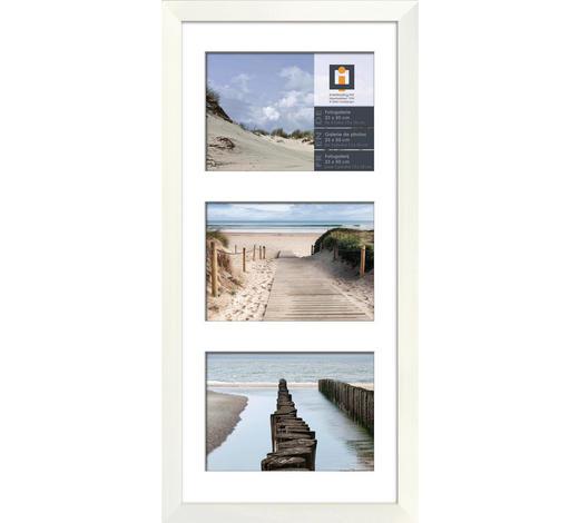 RÁM NA OBRAZOVÉ KOLÁŽE,  - bílá, Lifestyle, dřevo/sklo (23/50cm)