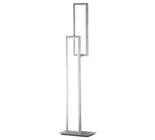 LED-STEHLEUCHTE - Nickelfarben, Design, Kunststoff/Metall (38/153/20cm)