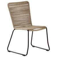 STAPELSTUHL - Taupe/Schwarz, Design, Kunststoff/Metall (63/89/60cm) - Ambia Garden