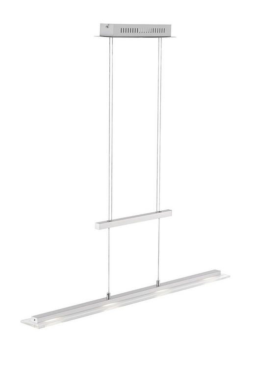 VISEČA LED SVETILKA TENSO - krom/nikelj, Design, kovina/steklo (9/88cm)