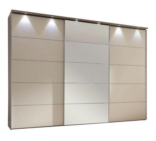 SKŘÍŇ S POSUVNÝMI DVEŘMI, pískové barvy, magnolie - magnolie/pískové barvy, Konvenční, kov/kompozitní dřevo (280/222/68cm) - Moderano