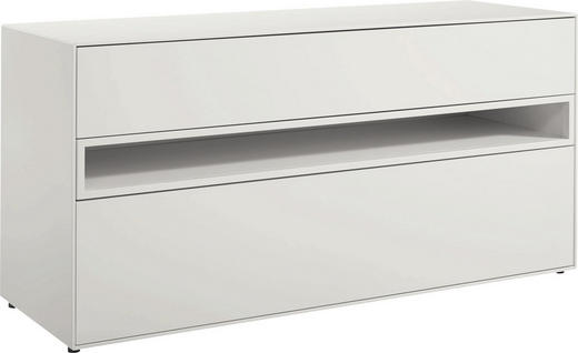 LOWBOARD lackiert Weiß - Weiß, Design (128/64/44,8cm) - Now by Hülsta