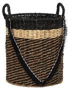 KOŠARA ZA REGAL - naravna/črna, Trendi, kovina/tekstil (35/40/48cm) - Landscape