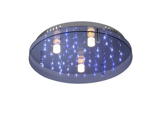 LED-DECKENLEUCHTE - Chromfarben, LIFESTYLE, Glas/Metall (50cm)
