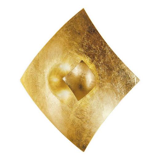 DECKENLEUCHTE - Goldfarben, Design (50/50/10cm)