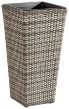 KVĚTINÁČ - šedá, kov/umělá hmota (36/70/36cm) - AMBIA GARDEN