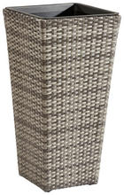 PFLANZENTOPF Kunststoff, Metall - Grau, Kunststoff/Metall (36/70/36cm) - AMBIA GARDEN