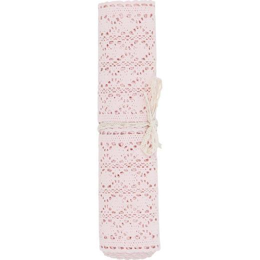 TISCHLÄUFER Textil Hellrosa 30/140 cm - Hellrosa, Basics, Textil (30/140cm)