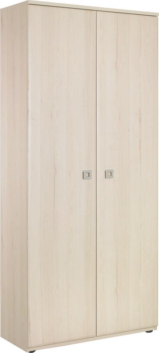 GARDEROBENSCHRANK melaminharzbeschichtet Hellbraun - Hellbraun/Chromfarben, KONVENTIONELL, Holzwerkstoff/Metall (90/195,2/37,5cm) - Venda
