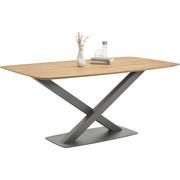 ESSTISCH in Holz, Metall 180/100/77 cm - Eichefarben/Anthrazit, Natur, Holz/Metall (180/100/77cm) - Bert Plantagie